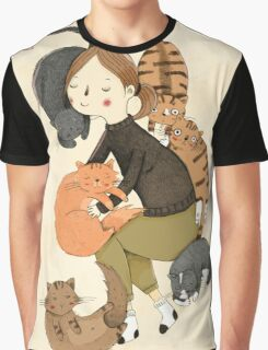 Cat Love Graphic T-Shirt