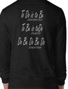 Do be Do be Do, Greek version, MUSIC, Frank Sinatra Lyrics, on BLACK Long Sleeve T-Shirt