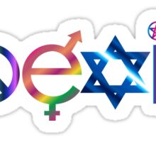COEXIST Ornate Sticker