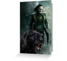 Loki and Cara Greeting Card