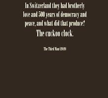 Third man quote - Cuckoo clock Unisex T-Shirt