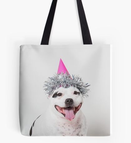Cassie in party hat! Tote Bag