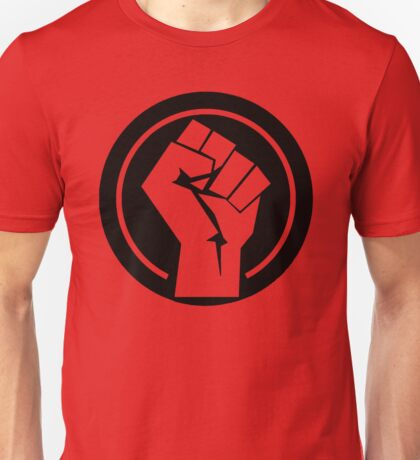 Black Socialist Fist Unisex T-Shirt