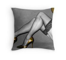 Sexy Legs in Stockings Throw Pillow