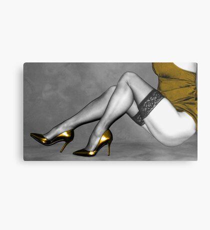 Sexy Legs in Stockings Metal Print