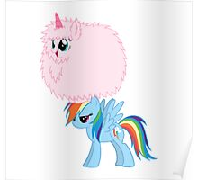Fluffle Puff Dancing on Rainbow Poster