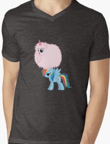 Fluffle Puff Dancing on Rainbow Mens V-Neck T-Shirt