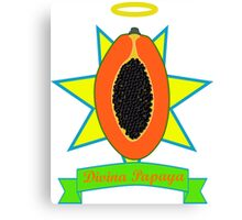 Holy Papaya Canvas Print