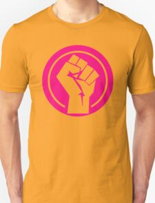fuchsia Feminist fist T-Shirt