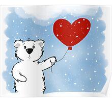 Snowy Bear in Love Poster