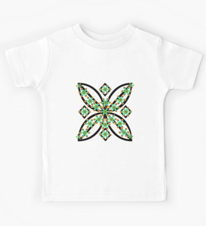 green flowers Kids Tee