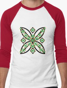 green flowers Men's Baseball ¾ T-Shirt