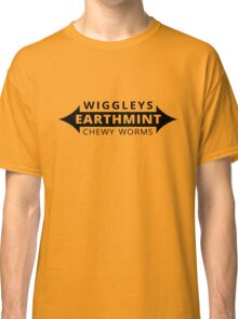 Wiggleys' Earthmint Chewy Worms Gold Tee/Yellow Poster Classic T-Shirt