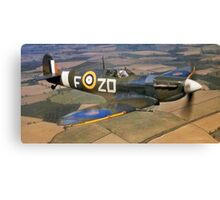 SPITFIRE, British, Airplane, Fighter, WWII, 1942, Spitfire VB of 222 Squadron Canvas Print