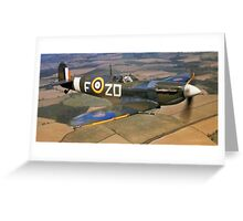 SPITFIRE, British, Airplane, Fighter, WWII, 1942, Spitfire VB of 222 Squadron Greeting Card