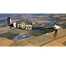 SPITFIRE, British, Airplane, Fighter, WWII, 1942, Spitfire VB of 222 Squadron Photographic Print