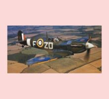 SPITFIRE, British, Airplane, Fighter, WWII, 1942, Spitfire VB of 222 Squadron Baby Tee