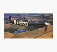 SPITFIRE, British, Airplane, Fighter, WWII, 1942, Spitfire VB of 222 Squadron One Piece - Short Sleeve