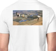 SPITFIRE, British, Airplane, Fighter, WWII, 1942, Spitfire VB of 222 Squadron Unisex T-Shirt