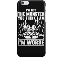 Goku- I'm not Monster - I'm Worse iPhone Case/Skin