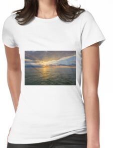 Gulf of Mexico Sunset Womens Fitted T-Shirt