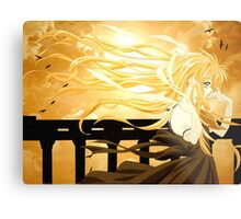 Flowing Hair By the Sunset Air Gear Metal Print
