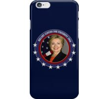 2016 election vote Hillary Clinton for president iPhone Case/Skin