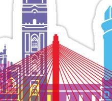 Badajoz skyline pop Sticker