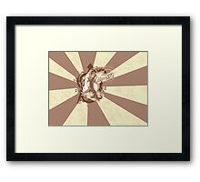 Street Art Inspired Vector Sunrays Air Gear Anime Framed Print