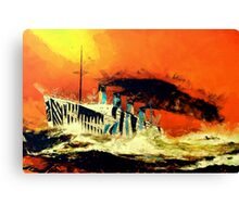 RMS Titanic's Senior Sister RMS Olympic in the Style of the Masters Canvas Print