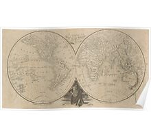 Vintage Map of The World (1811) Poster