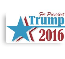 2016 election vote Donald Trump for president Canvas Print