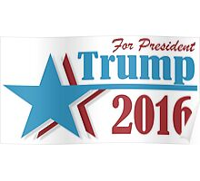 2016 election vote Donald Trump for president Poster