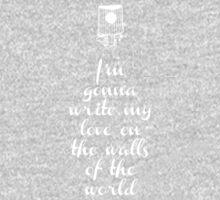 Writing on the wall - love Kids Tee