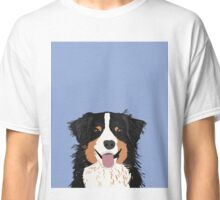 Australian Shepherd dog art customized pet portrait for aussie owners cute dog gift for dog person  Classic T-Shirt