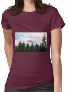 Low Cloud Over Carnic Alps Near Sauris Womens Fitted T-Shirt