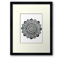 B&W Mandala Framed Print