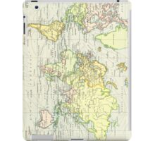 Vintage Map of The World (1899) iPad Case/Skin