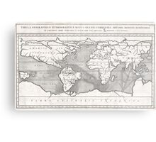 Vintage Map of The World (1665) Metal Print
