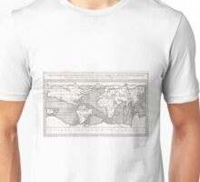 Vintage Map of The World (1665) Unisex T-Shirt