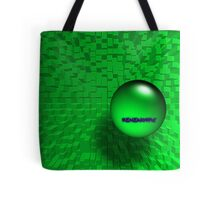 3D Marble and Cubes Abstract (Green) Tote Bag