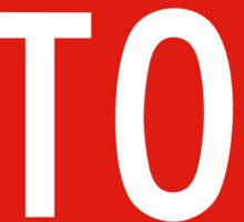 Stop Sign, USA Sticker