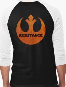 The Resistance logo Men's Baseball ¾ T-Shirt