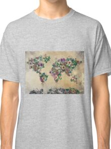 floral world map Classic T-Shirt