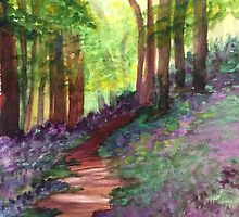 Wooded Purple Flowers by ClaraM