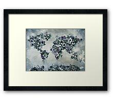 floral world map 2 Framed Print