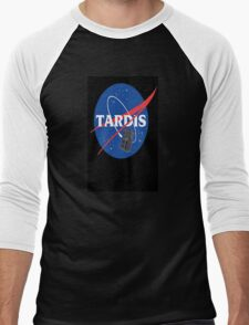 Tardis Nasa Space Program Men's Baseball ¾ T-Shirt