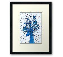 Flowery fawn  Framed Print