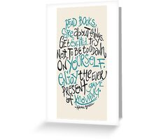 Hank Green Quote Greeting Card