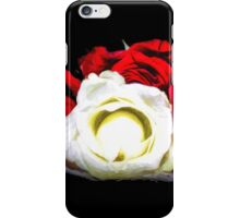 Painted Red and White Roses iPhone Case/Skin
